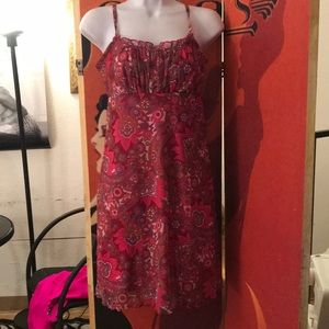 Pink Flowered dress size s